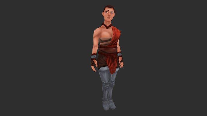 Monk Girl 3D Model