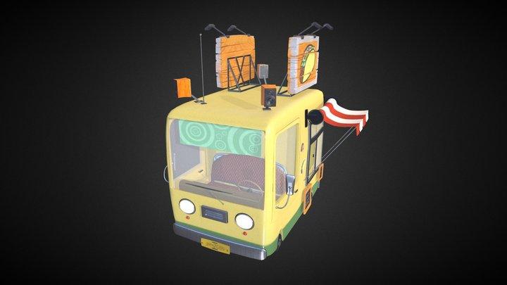 Stylized Food Truck 3D Model