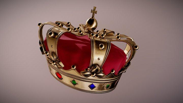 HAT - Royal Crown Hat - PBR Game Ready 3D Model