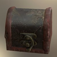 Treasure Box 3D Scanned Old Antique Chest 3D Model