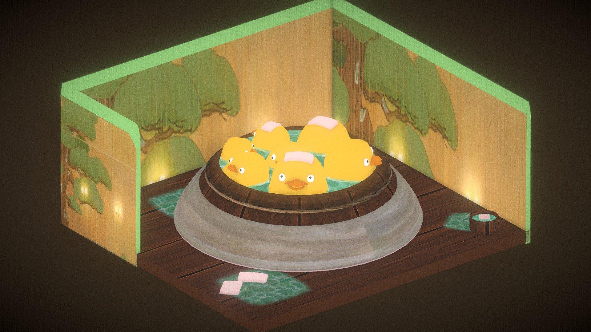 2018 Ghibli Bathing Ducks Spirited Away 3d Model By Asparas Asparas 335099d Sketchfab
