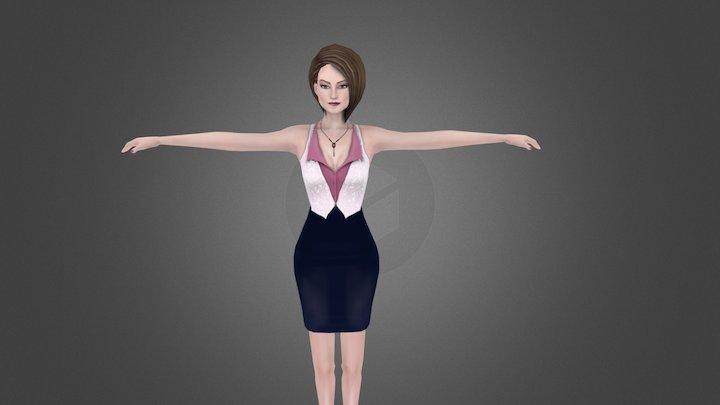 Dealer (Female) 3D Model