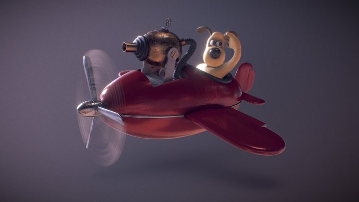 Gromit's plane, from Wallace & Gromit 3D Model