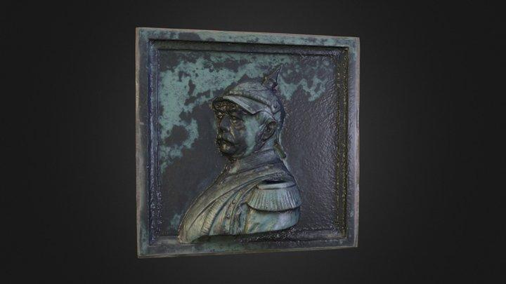 Bismarck Bronzerelief 3D Model