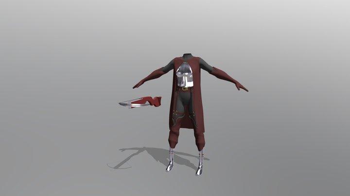 Girl Hunter Armor with Crossbow 3D Model