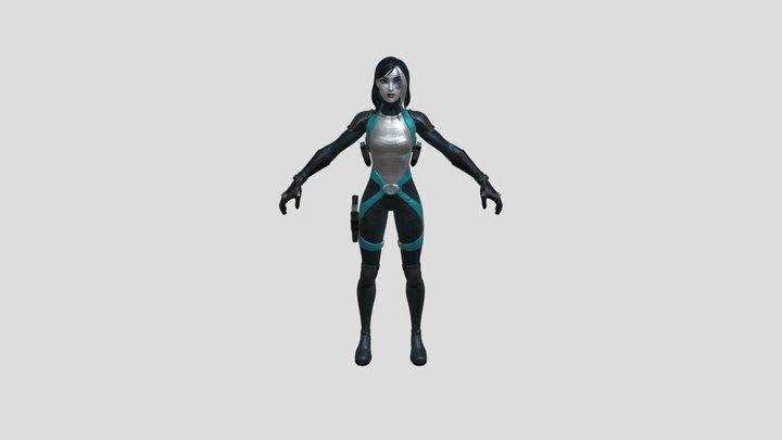 Fortnite Skins 🦸♀️ Domino Skin 3D Model