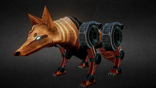 Machine Fox Old 3D Model