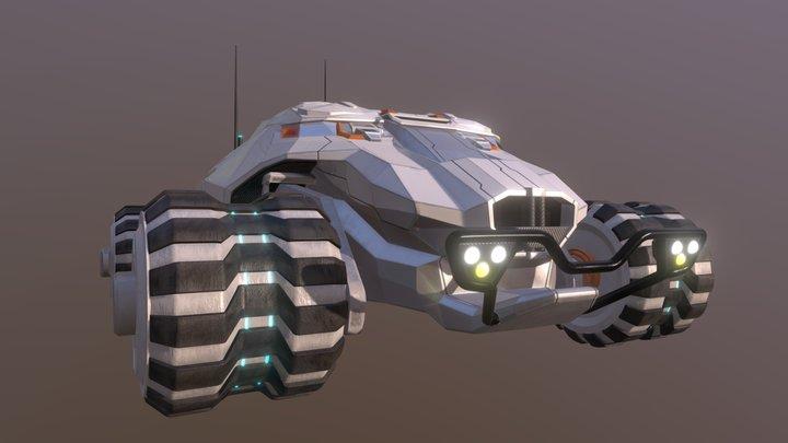 sci-fi offroad car 3D Model