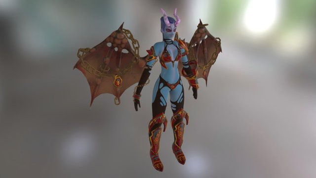 Queen of Pain - Dota2 [MODIFIED] 3D Model
