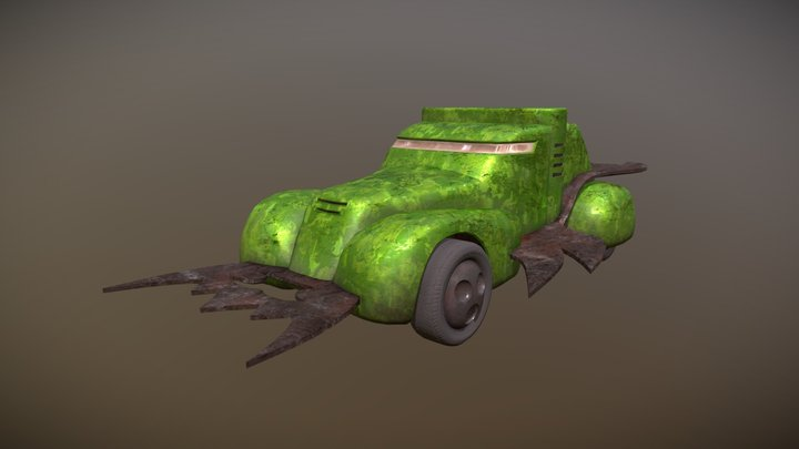 Vangers Oxidized Monk Model 1.5 (Green Fostral) 3D Model