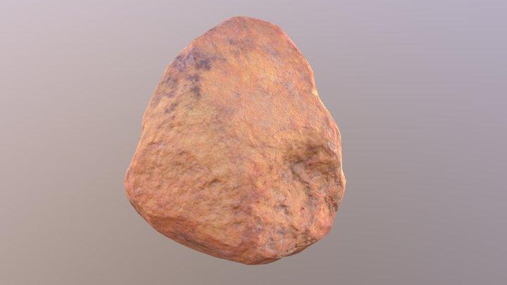 Orange Rock 01 3D Model