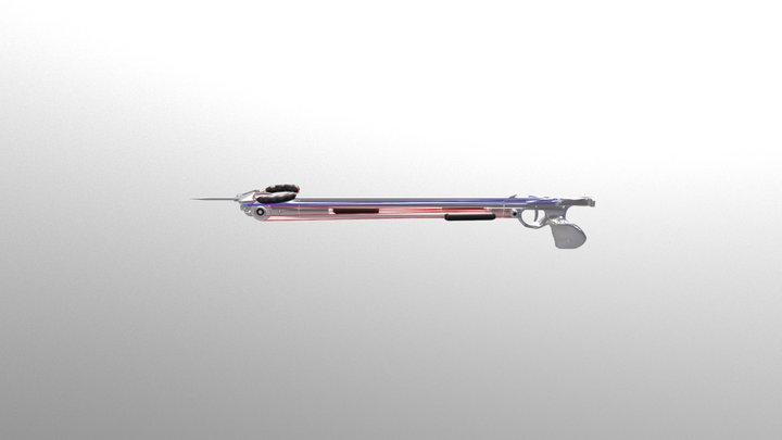 Inverted Aluminium Speargun - Unloaded 3D Model