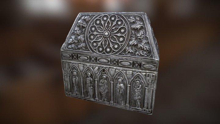 Cofre con motivos religiosos 3D Model