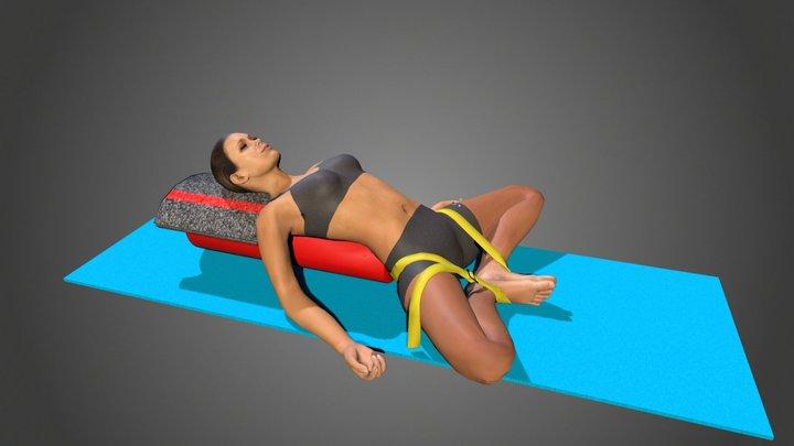 Yoga Pose Supta Baddha Konasana 3D Model