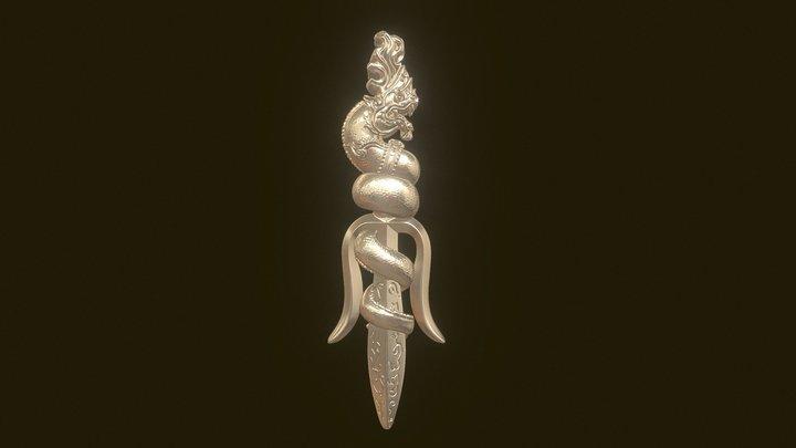 Jewelry - Lucky Dagger 3D Model