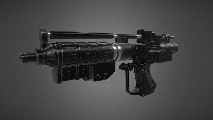 Star Wars Battle droid Blaster   E-5 Blaster 3D Model