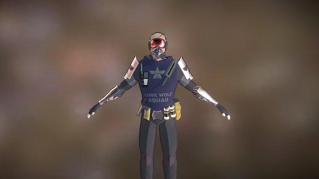 Military Man 3D Model