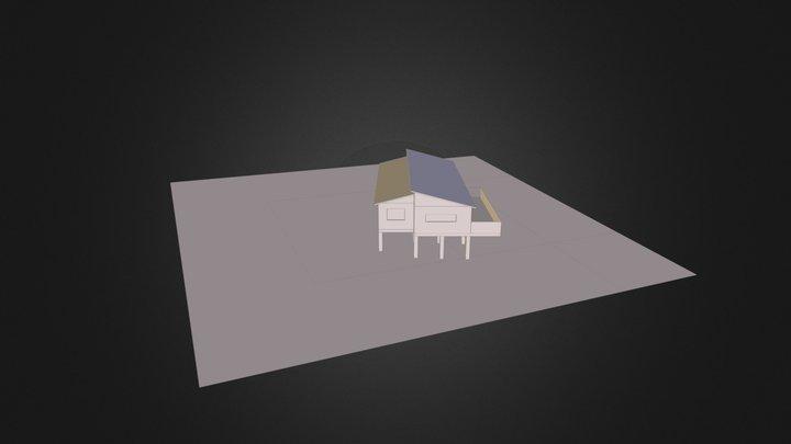 Ossature 3 Pente Toit 3D Model