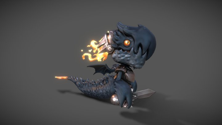 Tiny Dragon 3D Model
