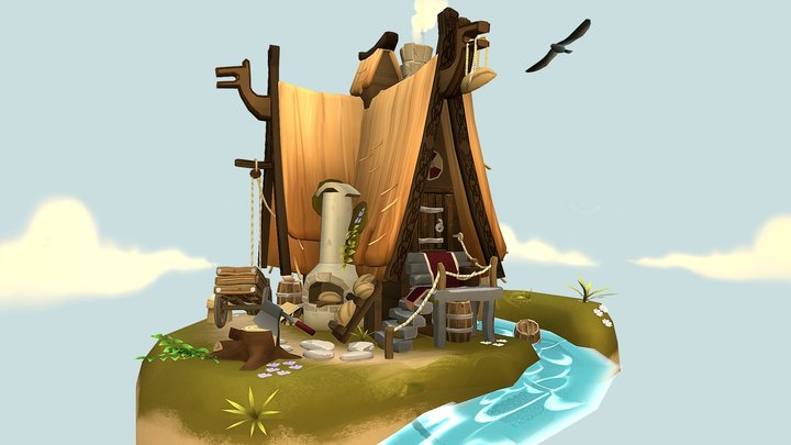 The Viking Bakery 3D Model