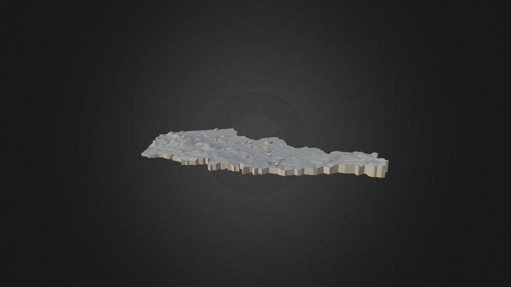 Géographie du Nord-Pas-de-Calais 3D Model