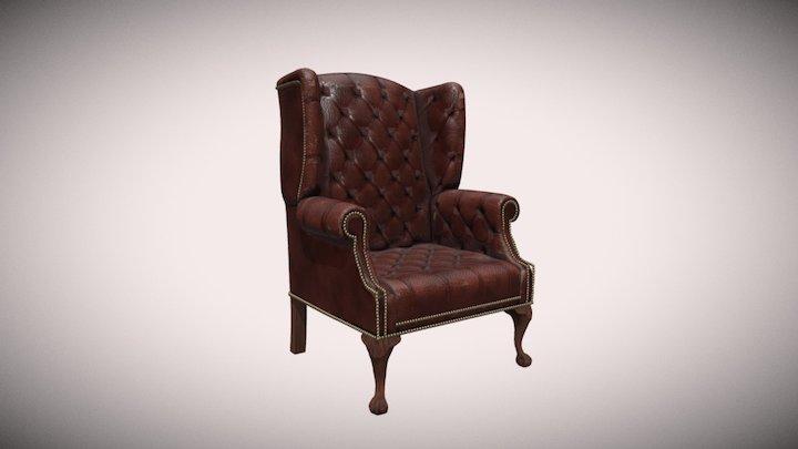Old Armchair Textures Comparison 3D Model