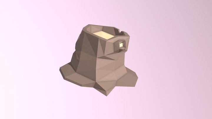 Low-Poly Stump 3D Model