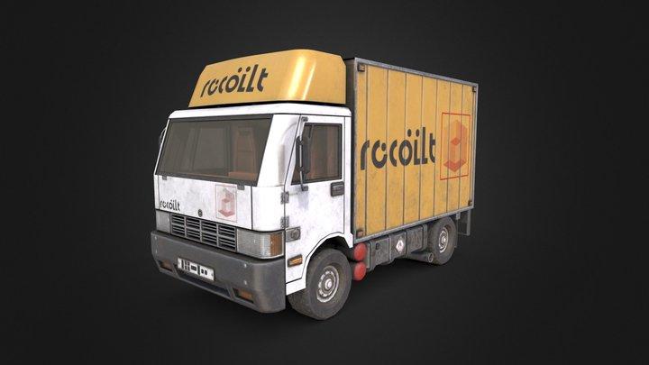 Truck Textured 3D Model