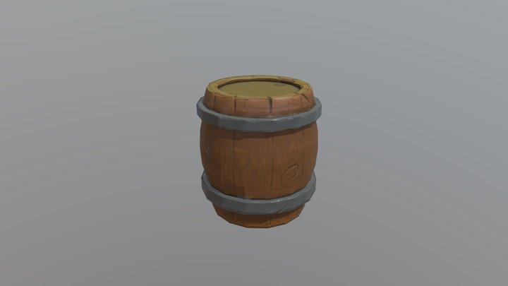 Barrel Lowpoly [GAME ASSET] 3D Model