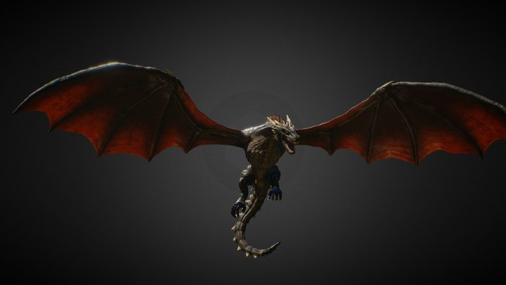 Drogon - Game of Thrones [OLD VERSION] 3D Model