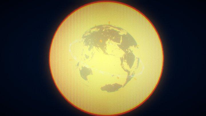 UI ◉ PLANET ◉ WIDE VER 3D Model