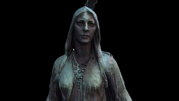 Pocahontas statue at Jamestown Virgina 3D Model
