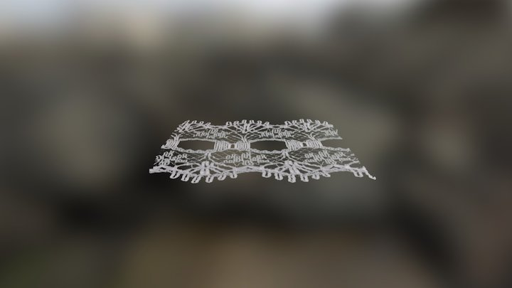 3D Lace Experiment 1 Single sided 3D Model