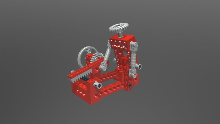 Lego Technic 8032 Universal Set Model A 3D Model