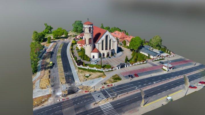 201805 Kościół - Stryjeńskich, Warszawa Ursynów 3D Model