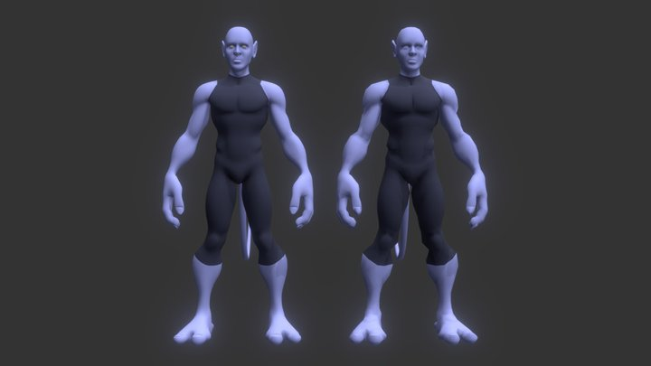 Nightcrawler (X- Men) 3D Model