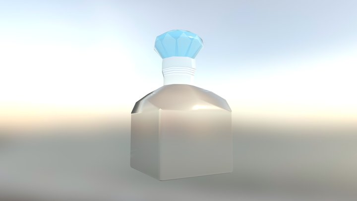 Bottle with Diamond Cork 3D Model