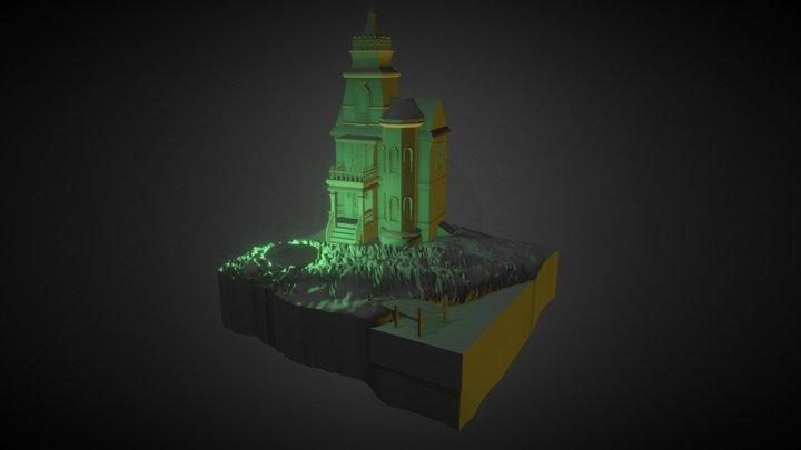 Cube World (lightning) 3D Model