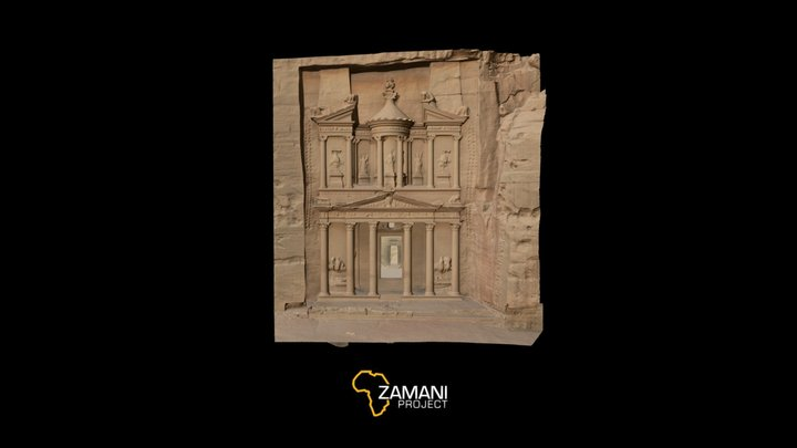 Al Khazneh (The Treasury), Petra, Jordan 3D Model