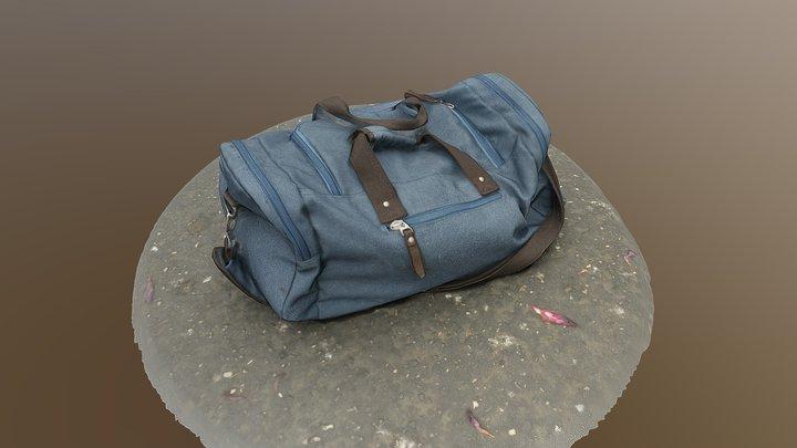 Gym Bag, Flat 3D Model
