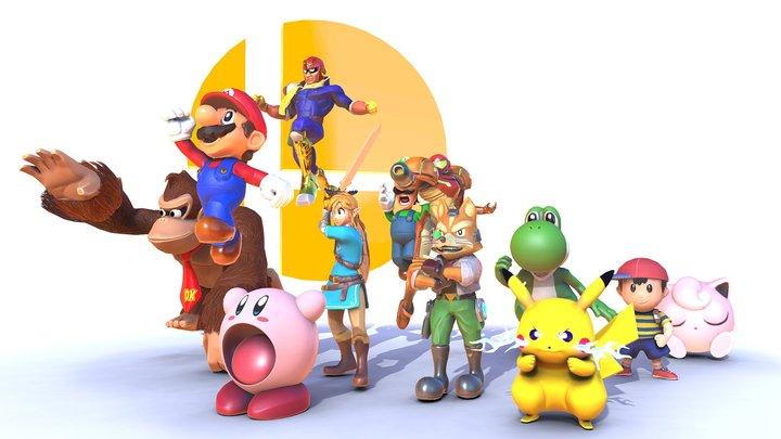 Super Smash Bros: The Original 12 3D Model