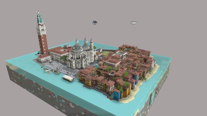 Little Venice (Minecraft Build) 3D Model