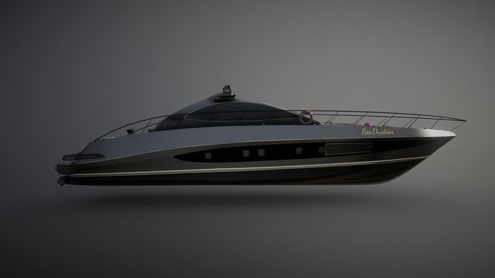 Riva Coupe Yacht 3D Model