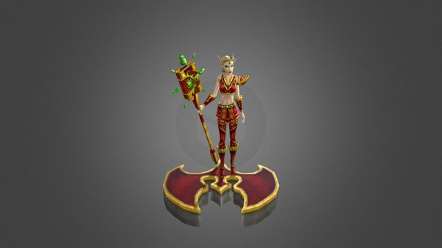 Blood Elf Pin-up 3D Model
