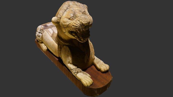 Modello statuetta Leone al museo di Ankara 3D Model