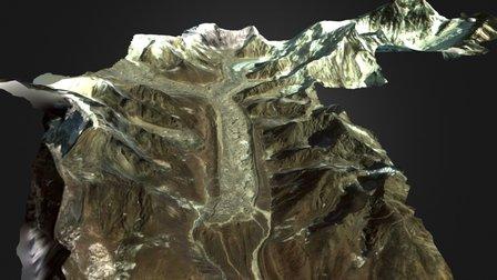 The Khumbu Glacier 3D Model