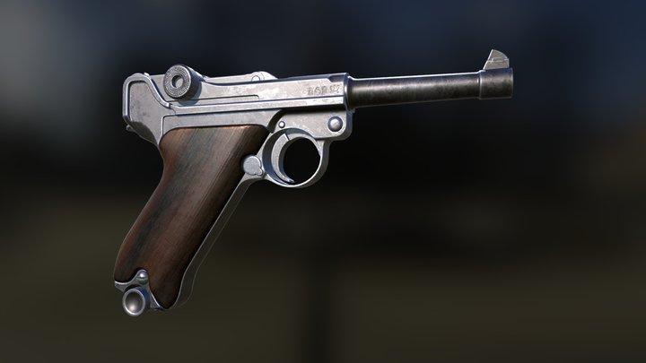 Custom Luger P08 3D Model