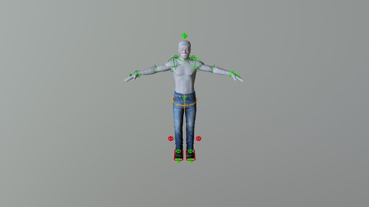 Human Modelling and Rigging 3D Model