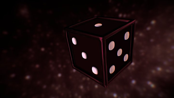 Cherry Chocolate Dice 3D Model