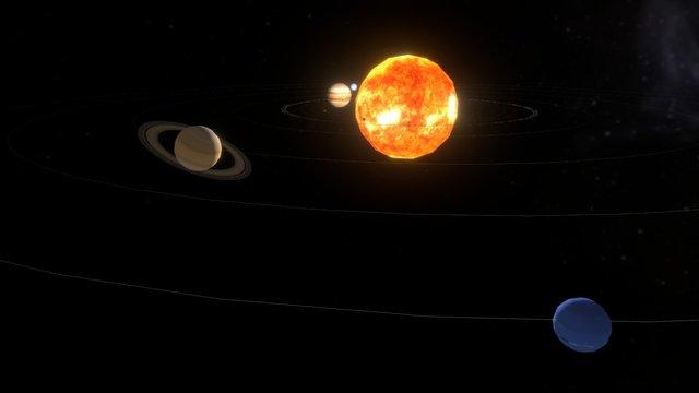Le système solaire 3D Model